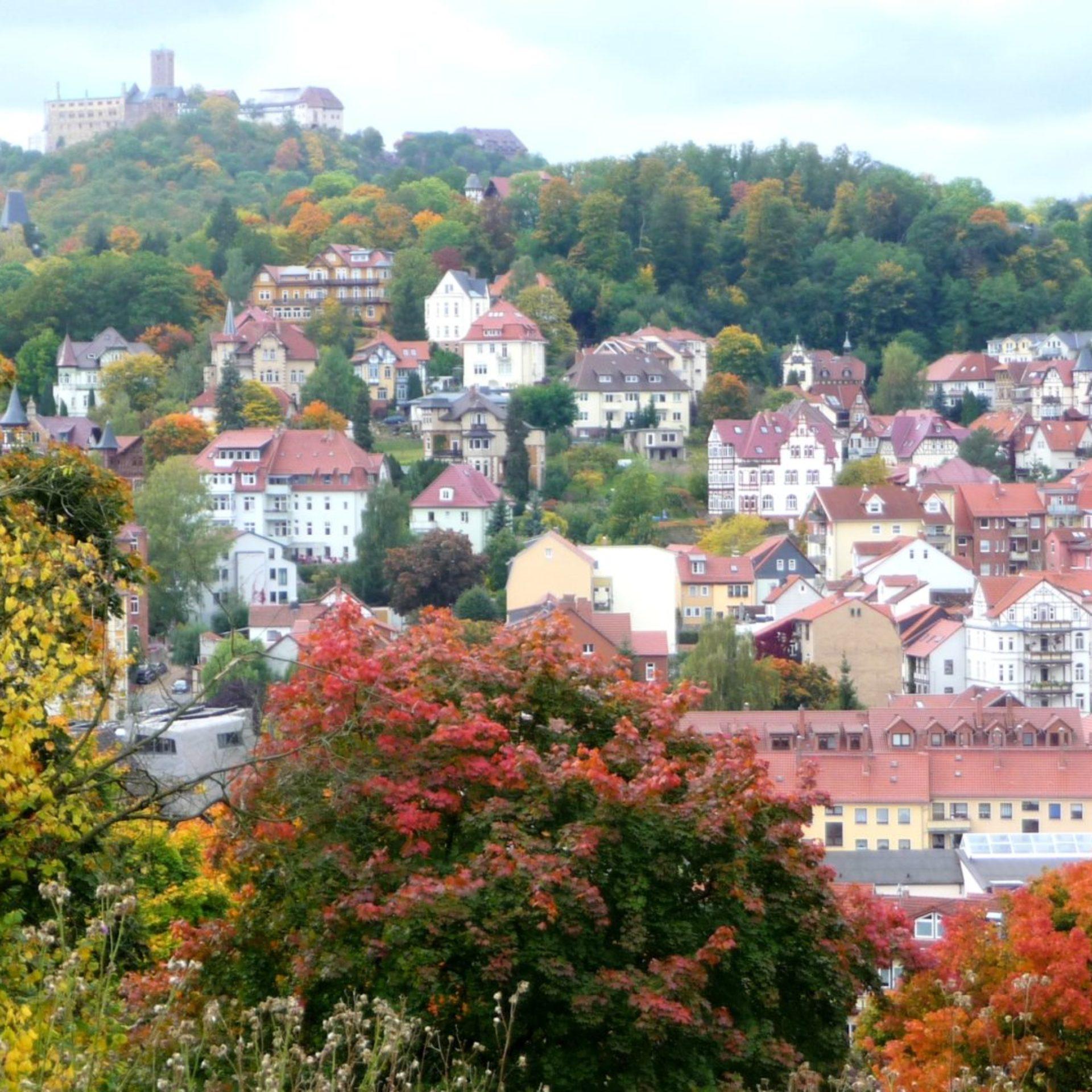 Stadtansicht Eisenach, Villenviertel