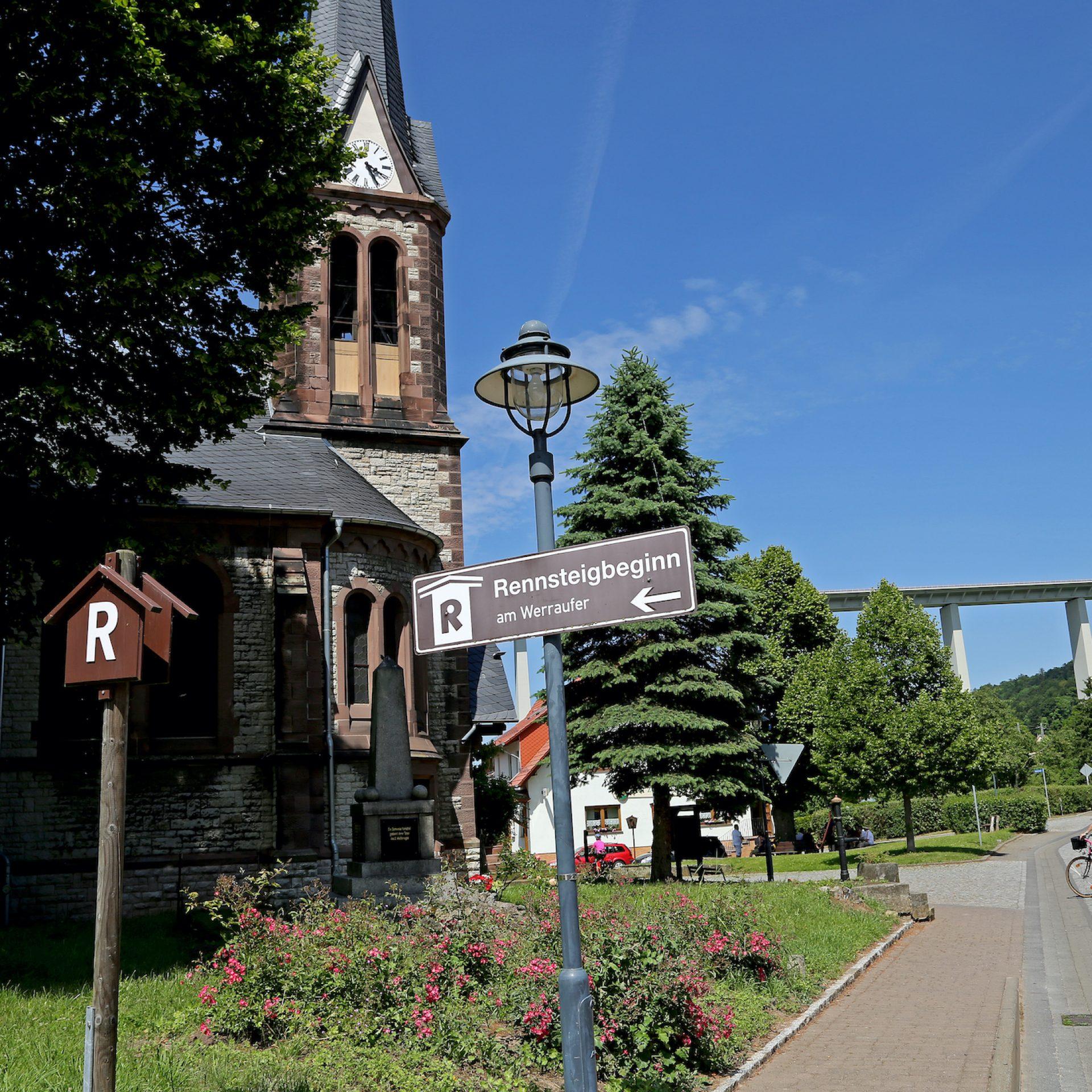 Werratalradweg, Rennsteigbeginn in Hörschel © Joachim Negwer/ Thüringer Tourismus GmbH