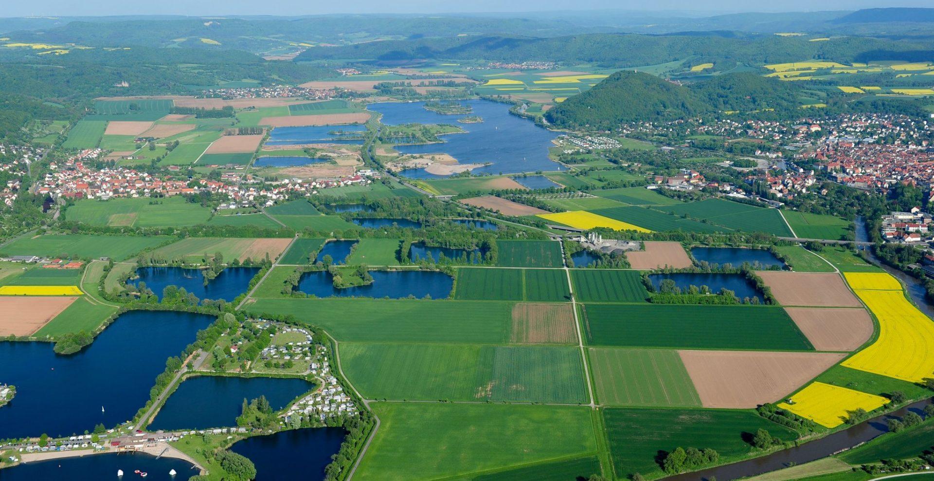 Luftbild Meinhardsee und Werratalsee