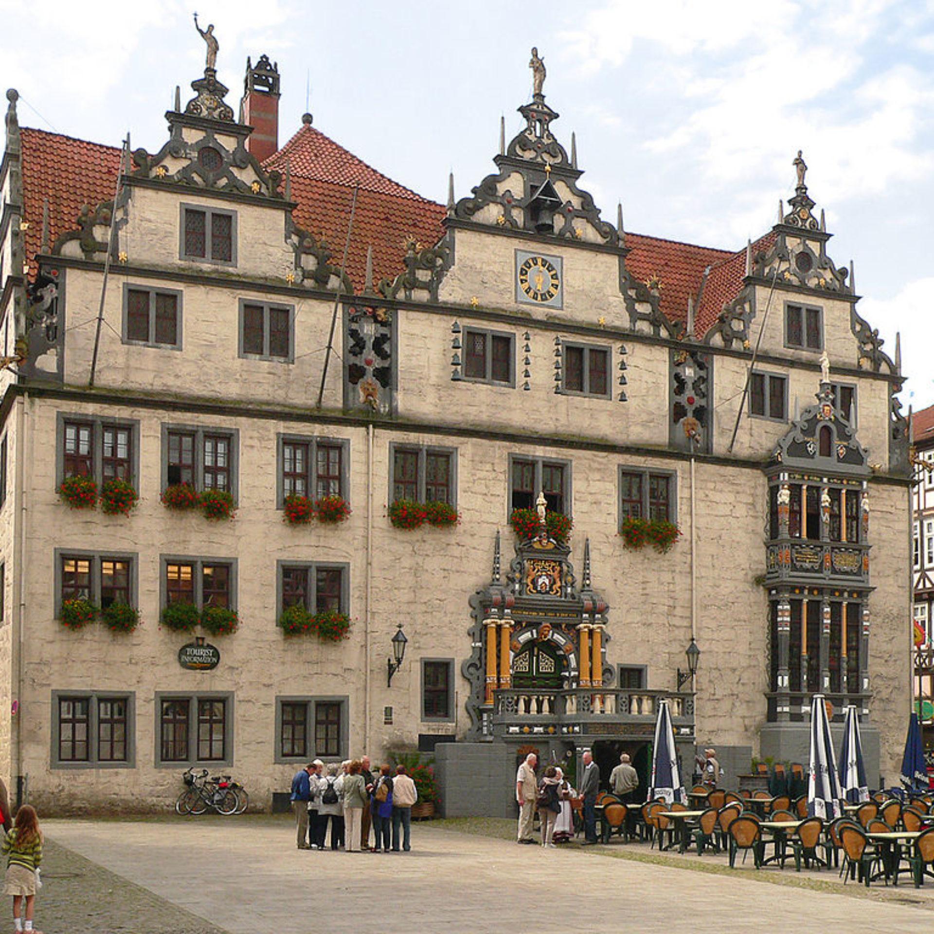Weserrenaissance Rathaus in Hann. Münden