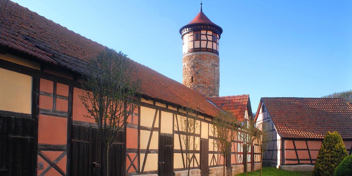 Kirchenburg mit Hutturm Vachdorf