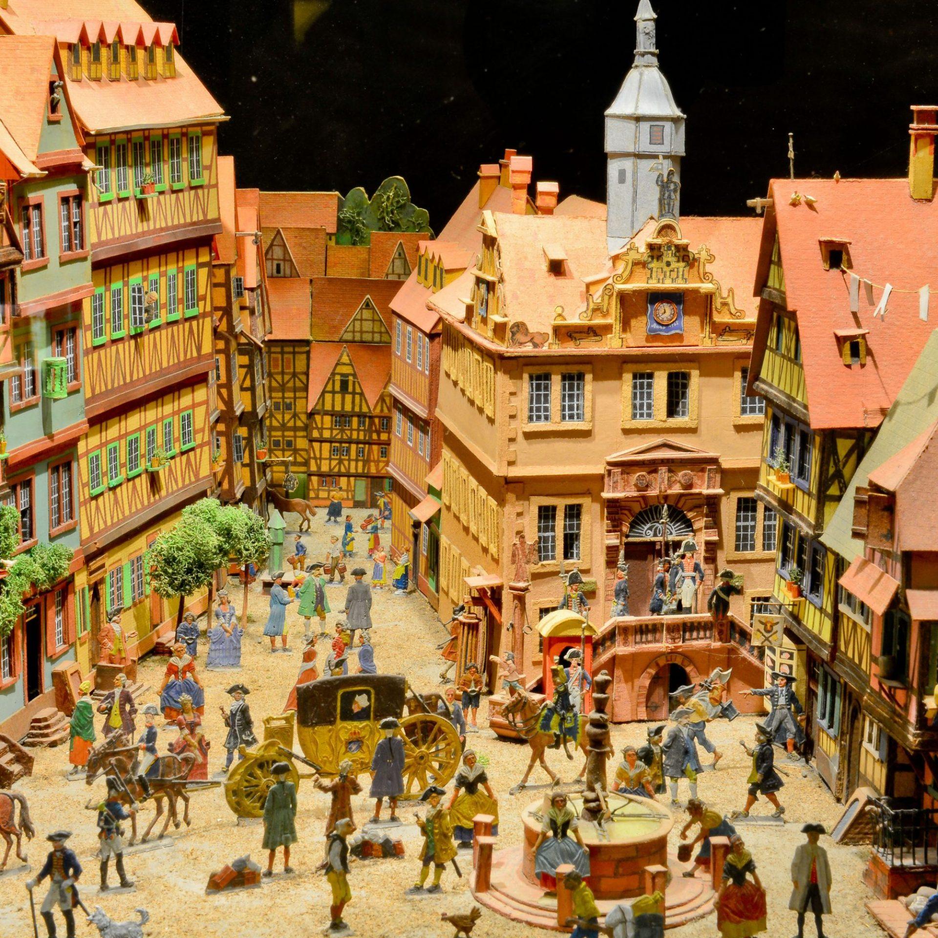 Obermarkt Eschwege im Zinnfigurenkabinett