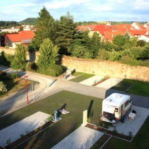 Caravanstellplätze in der Mauerstraße in Themar; direkt an der Werra