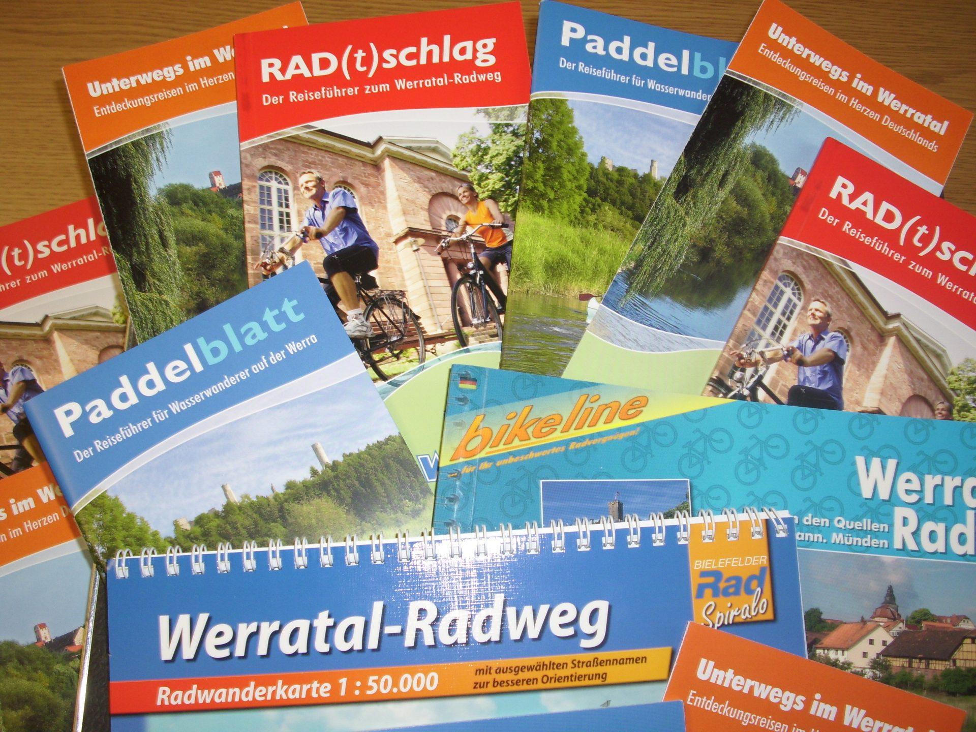 nfomaterial, Werbemittel Flyer, Broschüren: Rad(t)schlag, Paddelblatt, Radwanderkarten hier bestellen