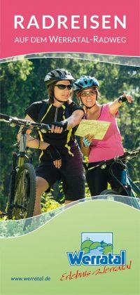 Titelseite Radpauschalen, Flyer Radreisen