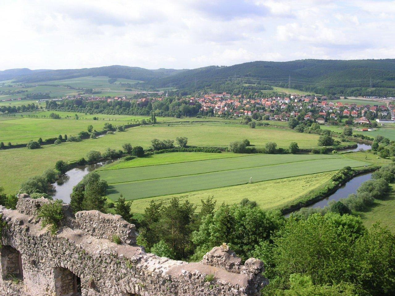 Blick von Brandenburg auf Herleshause