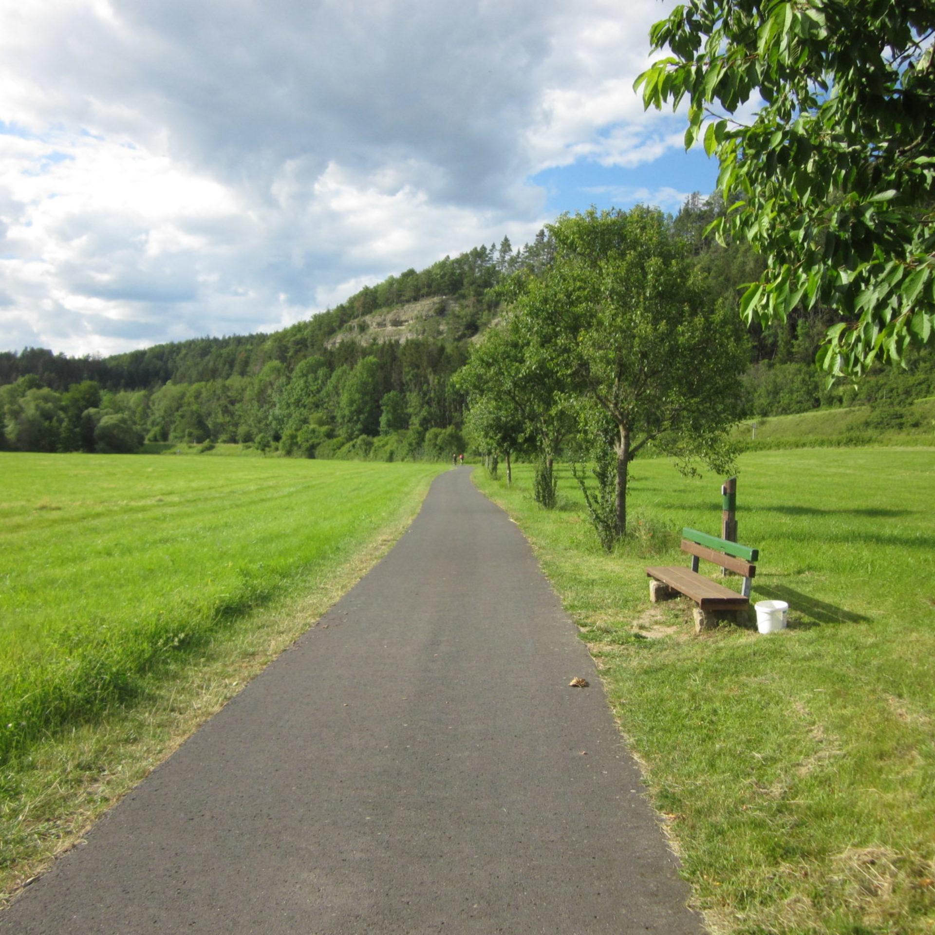 Werratal-Radweg bei Leutersdorf