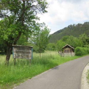 Unterwegs auf dem Werratal-Radweg bei Vachdorf