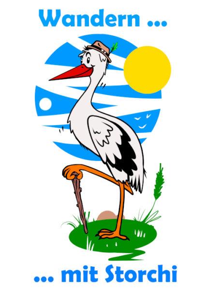 Logo Storchenstieg, Wandern mit Storchi
