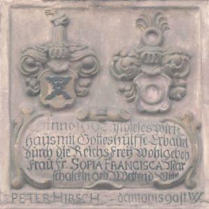 Stein mit Marschalk'schen Bettendorf'schen Wappen