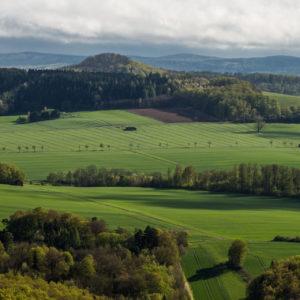 Blick vom Hohen Hagen zum Steinberg bei Meensen