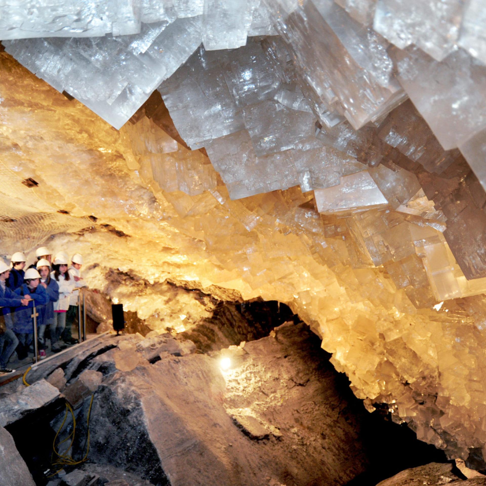 Kristallgrotte im Erlebnisbergwerk Merkers © K + S AG