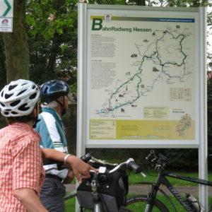 Infotafel BahnRadweg Hessen © Region Vogelsberg Touristik
