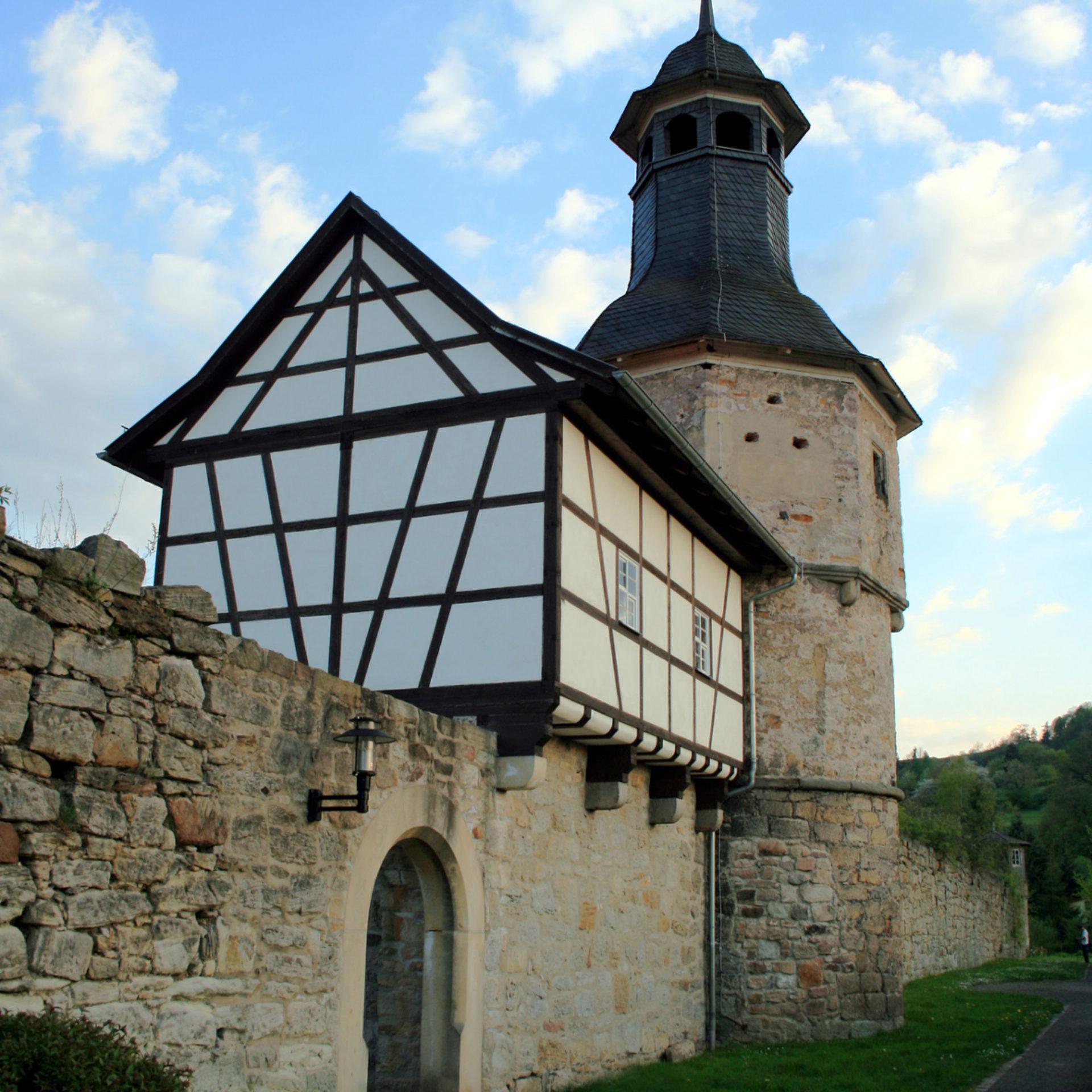 Stadtmauer mit Hexenturm Themar © Touristinfo Themar